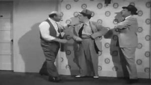 Sid Fields, Lou Costello and Bud Abbott do a funny version of the I'd like to see you do that again routine