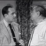 Bud Abbott and the insurance agent in Life Insurance - The Abbott and Costello Show season 2