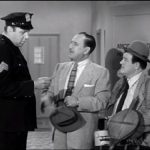 Mike the cop, Bud Abbott, and Lou Costello in Pest Exterminators - The Abbott and Costello Show season 2