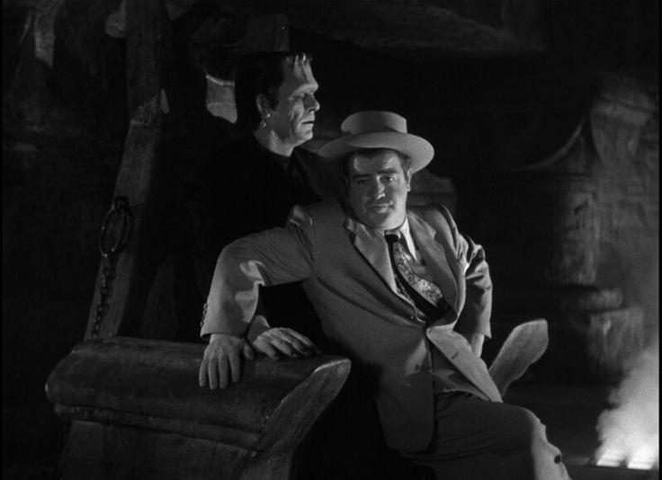 Frankenstein's monster and Lou Costello in Bud Abbott and Lou Costello Meet Frankenstein
